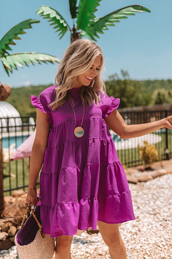 Love Potion Babydoll Dress In Orchid