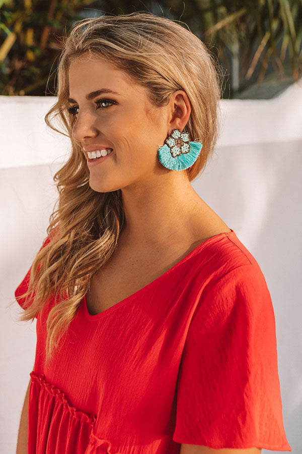 Luau Love Earrings In Turquoise