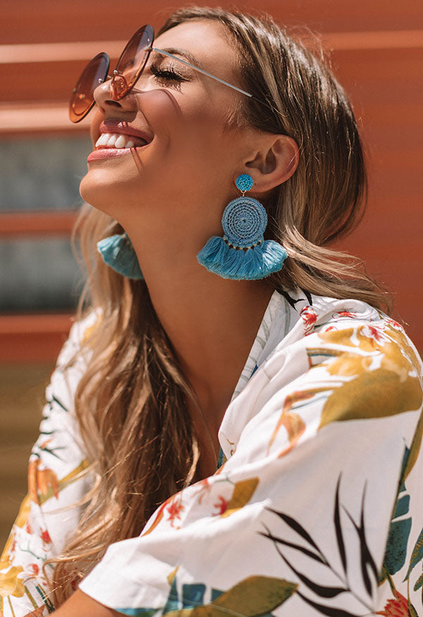 Suncatcher Earrings In Ocean Blue