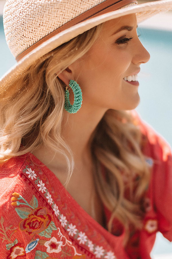 Oceanfront And Fabulous Hoop Earrings