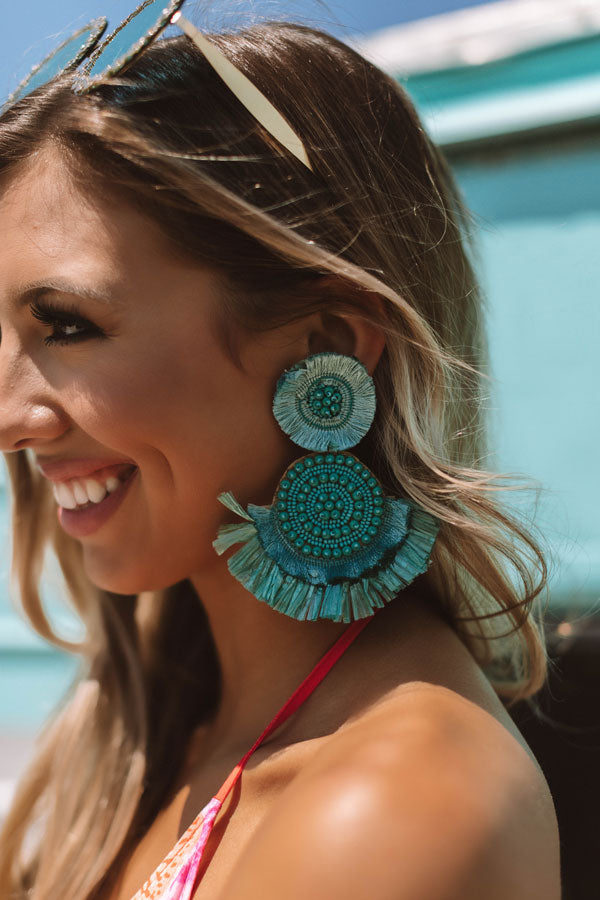 Mint Julep, Please Earrings In Turquoise