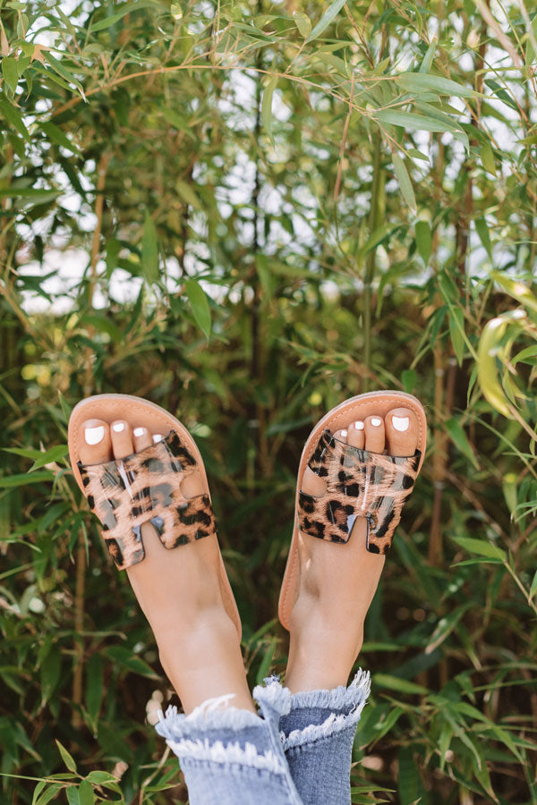 The Ella Leopard Sandal