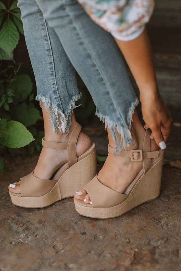 The Ayla Wedge In Iced Latte