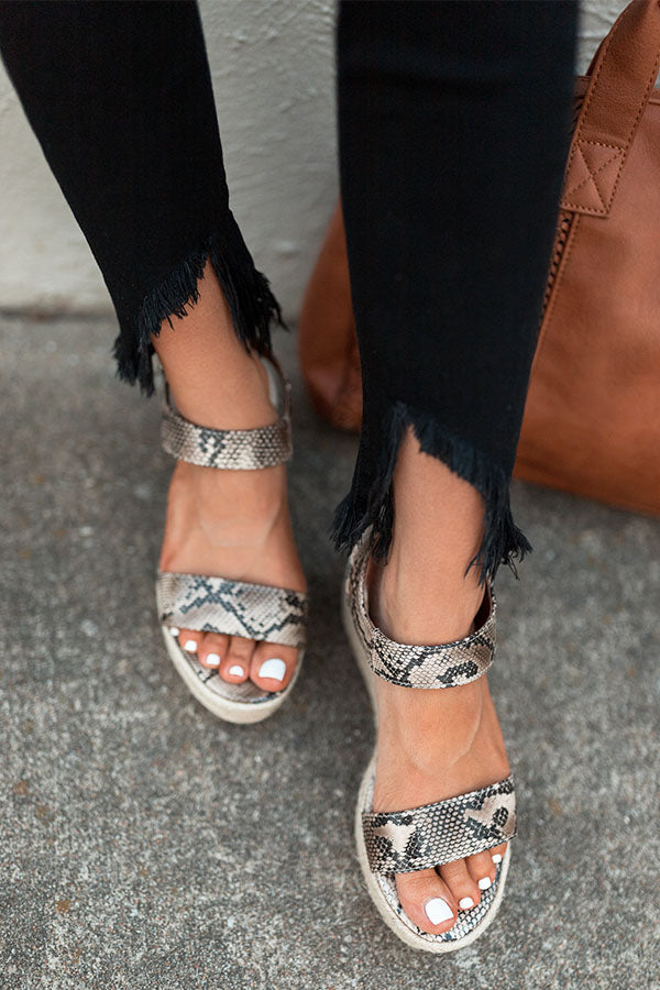 The Marlow Espadrille In Snake Print
