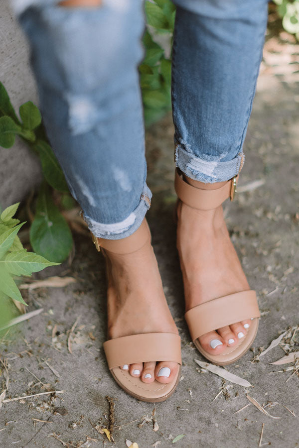 The Caylie Sandal In Tan