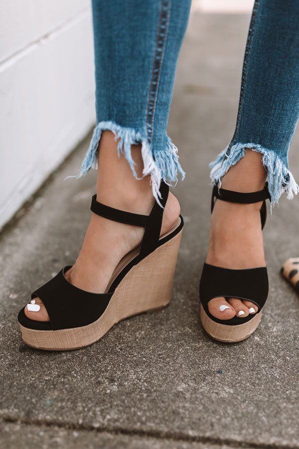 The Ayla Wedge In Black