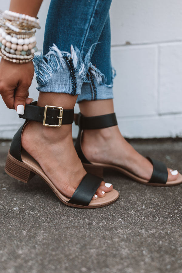 The Caylie Sandal In Black