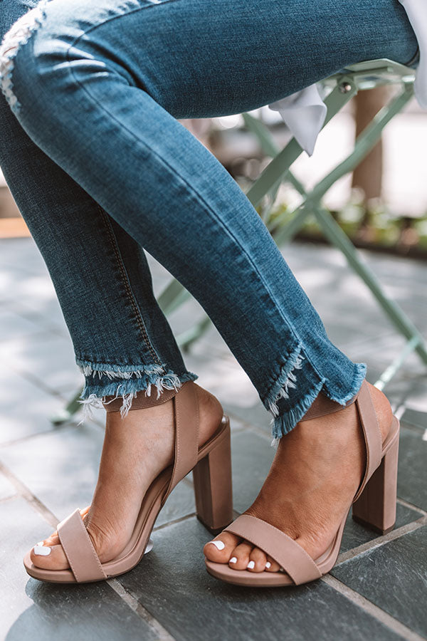 The Kara Heel In Iced Mocha