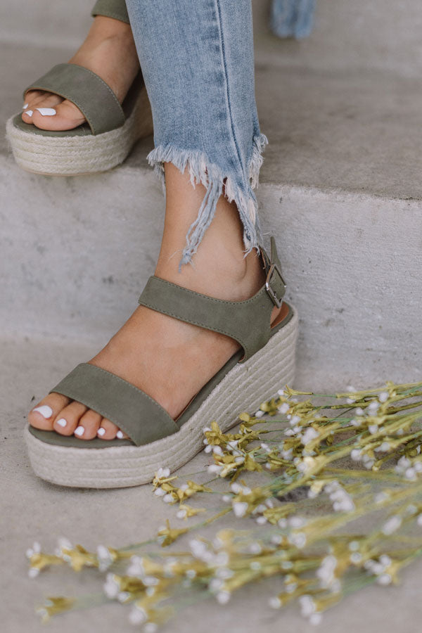 The Marlow Espadrille In Sage