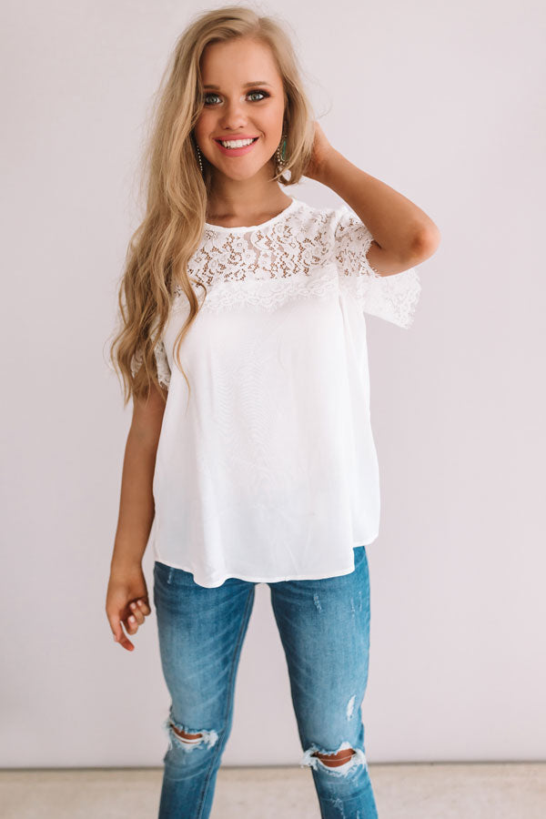 Fields In France Lace Top