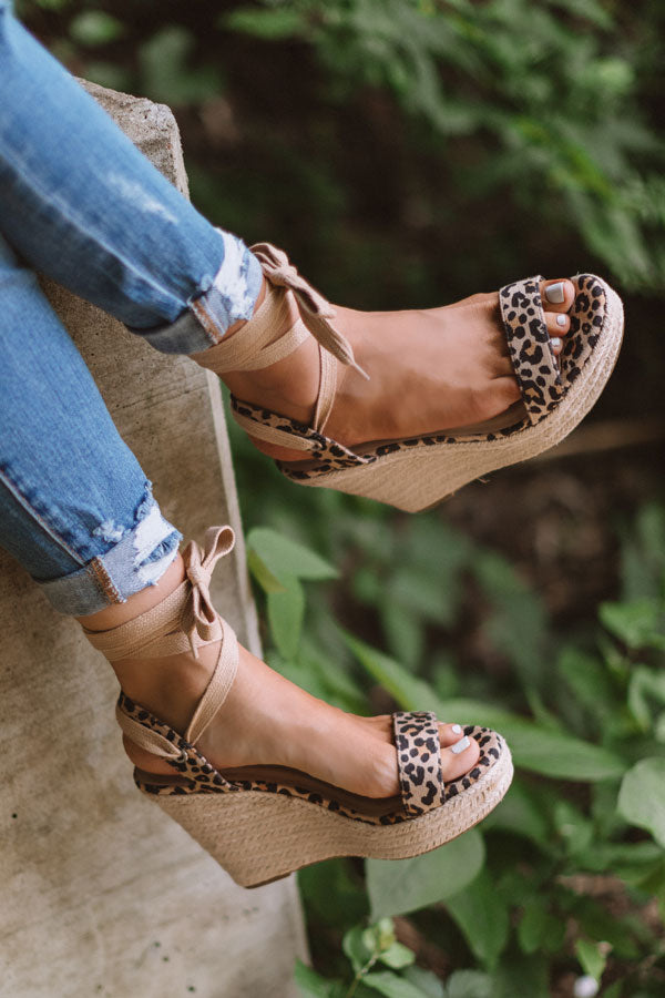 The Hampton Leopard Wedge