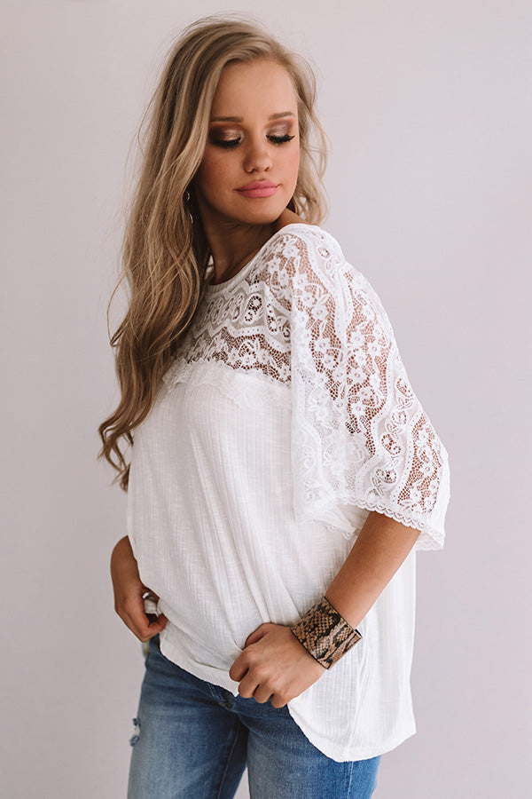 Chic Situation Lace Shift Top