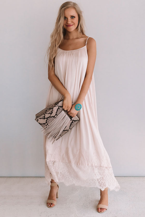 Luckiest Of All Lace Trim Maxi