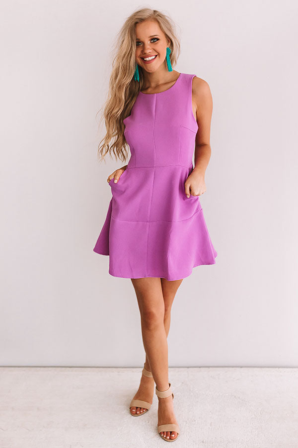 Just Keep Dancing Dress in Orchid