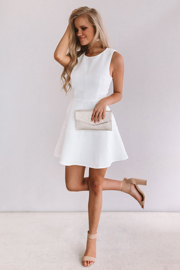 Just Keep Dancing Dress in White
