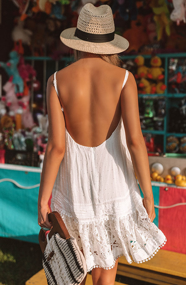 Day Date In Destin Crochet Trim Dress