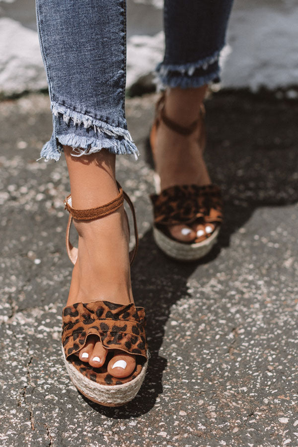 The Uptown Wedge In Leopard