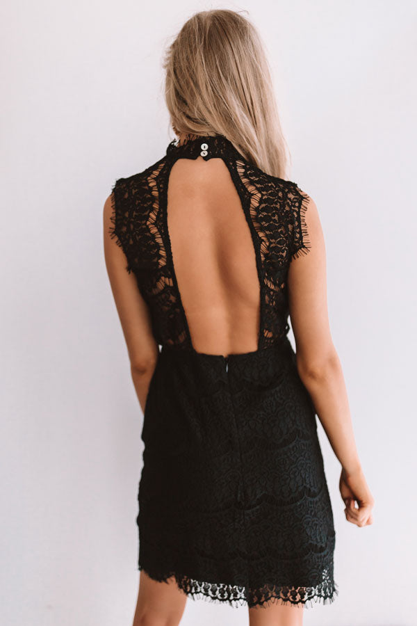 Limos and Luxury Lace Dress In Black