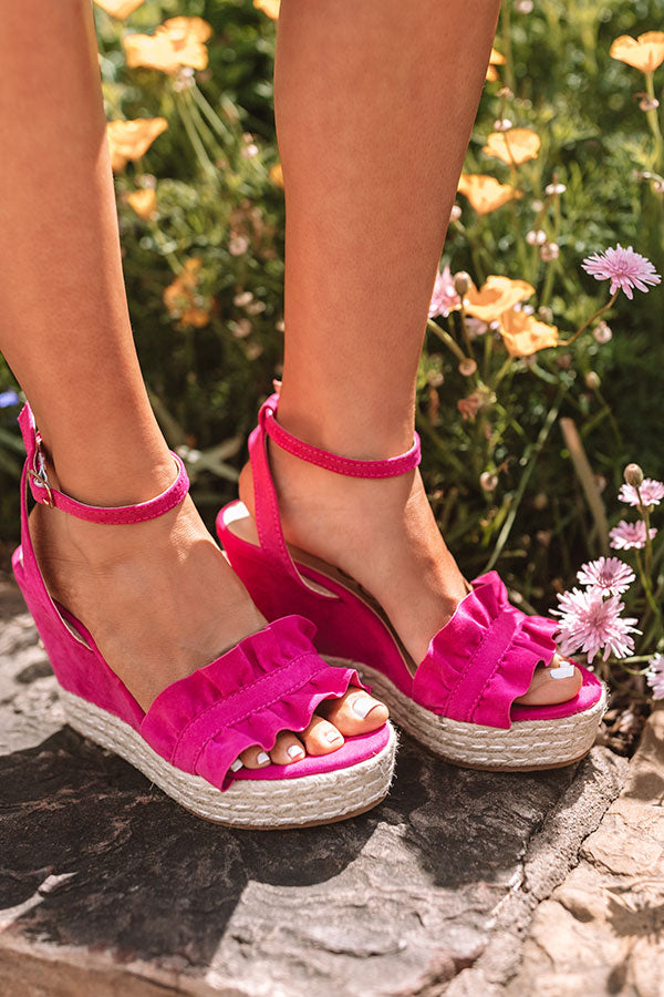 The Uptown Wedge In Fuchsia