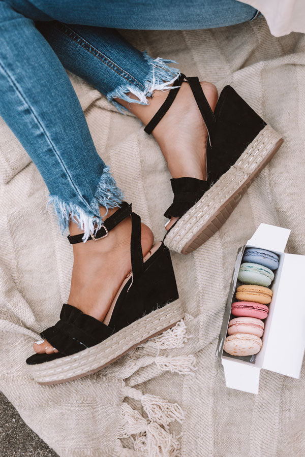 The Uptown Wedge In Black