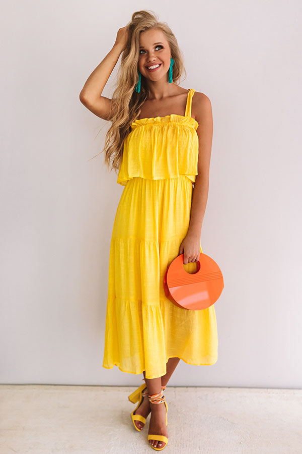 Summer Of Love Ruffle Midi