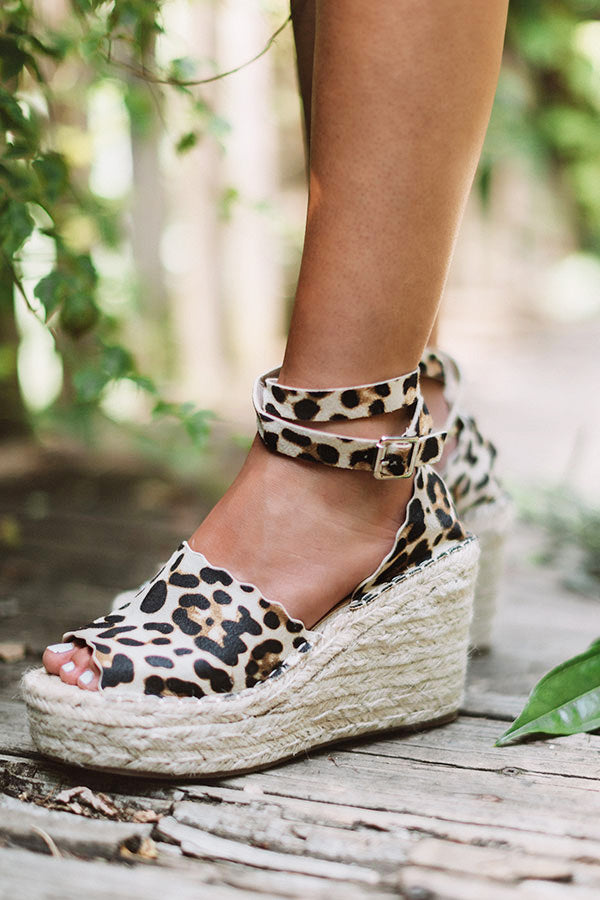 The Beck Espadrille Wedge In Leopard