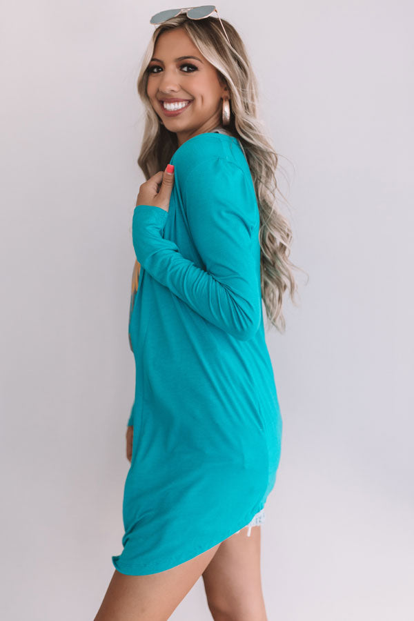 a6a58a9578 Layover In London Cardigan In Turquoise • Impressions Online Boutique
