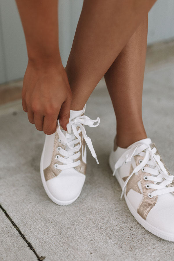 The Delaney Sneaker In Gold