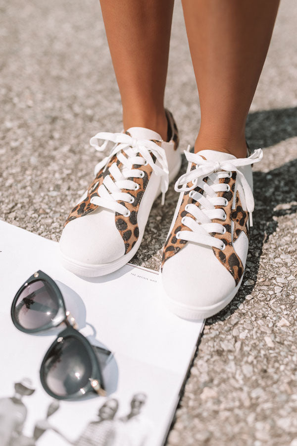 The Delaney Sneaker In Leopard
