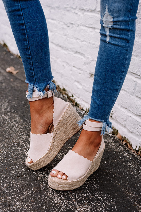 The Beck Espadrille Wedge In Light Natural