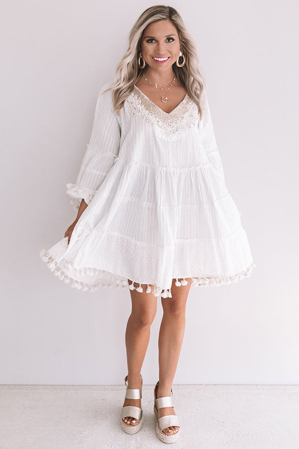 Sweet Adventure Embellished Shift Dress