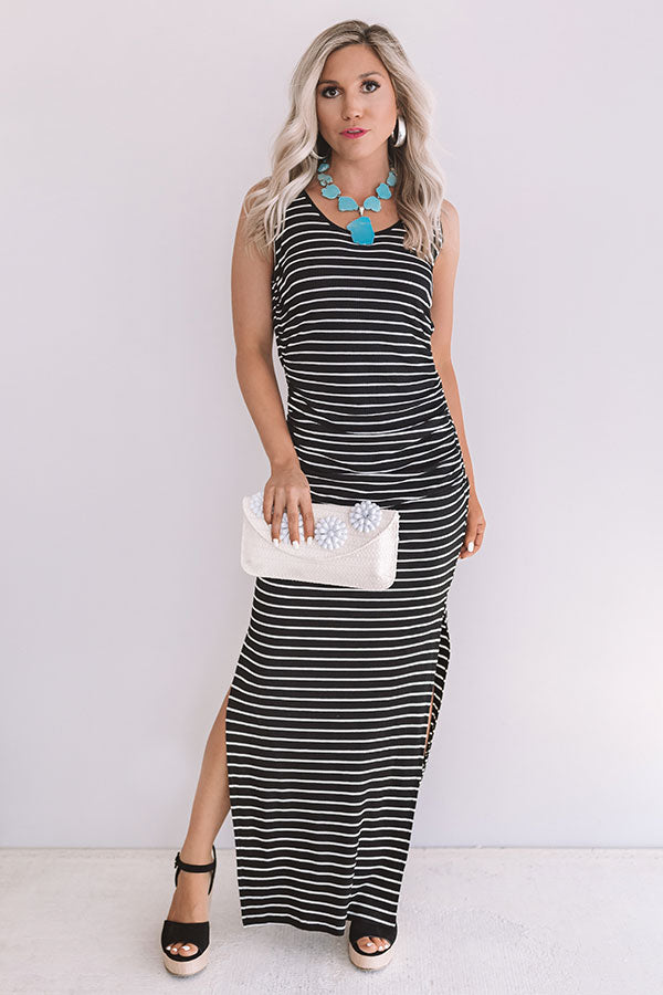 Feeling Pretty Stripe Maxi In Black