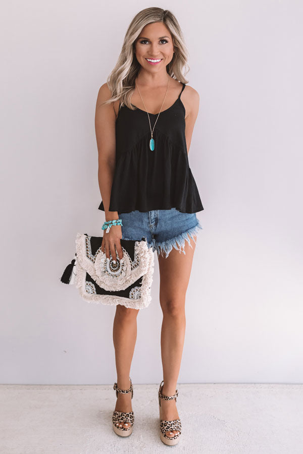 Simply The Best Babydoll Tank In Black