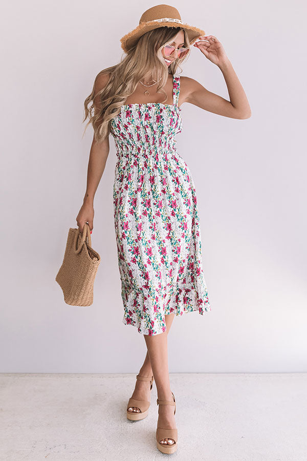 Coastal Crush Floral Midi