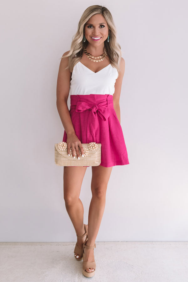 Weekend In New York Romper In Fuchsia