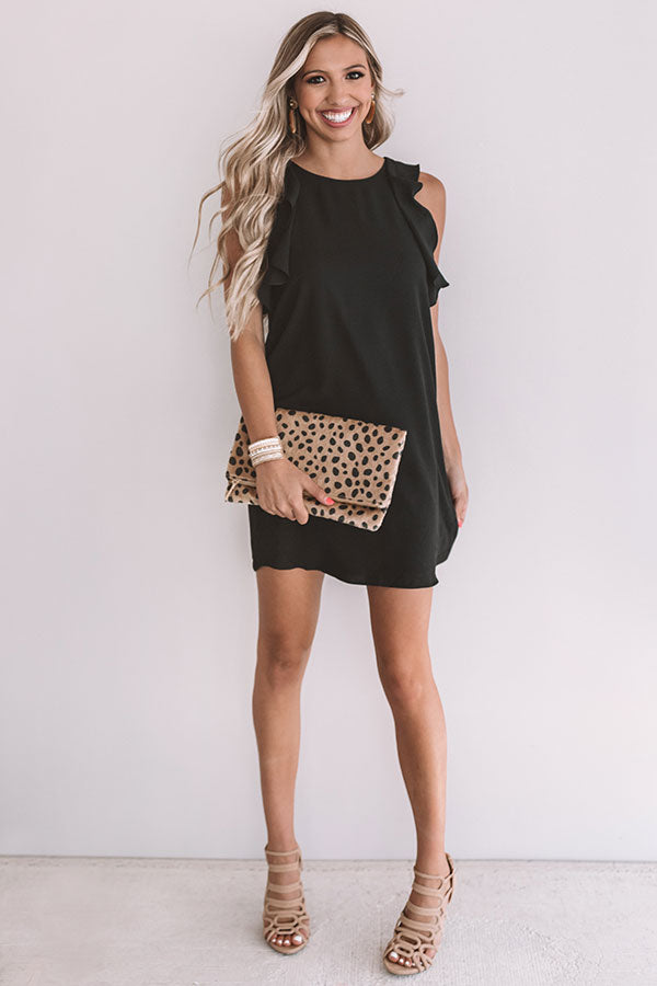 Going Steady Shift Dress In Black