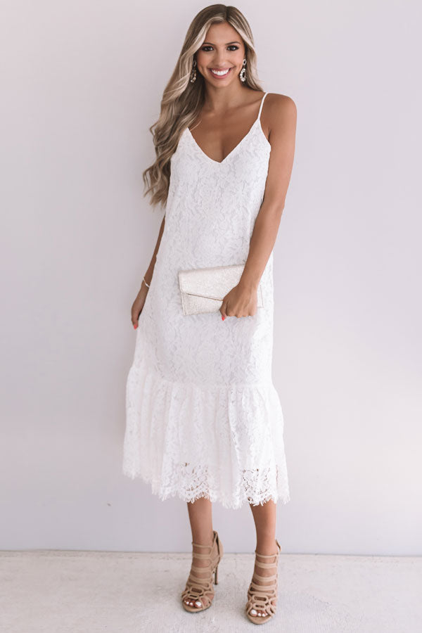 I Do, Too Lace Midi