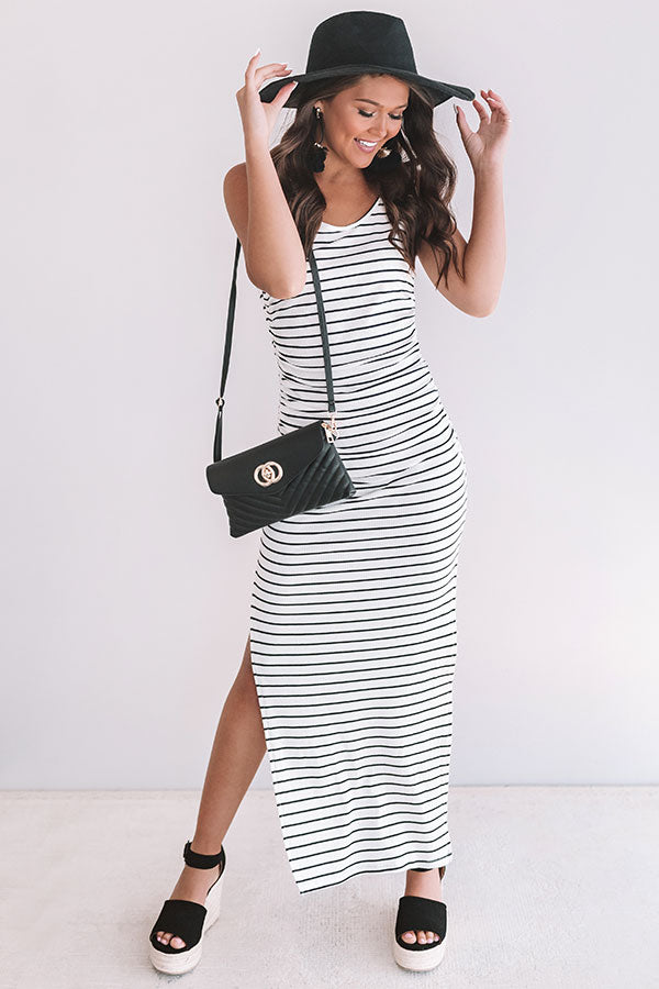 Feeling Pretty Stripe Maxi In White