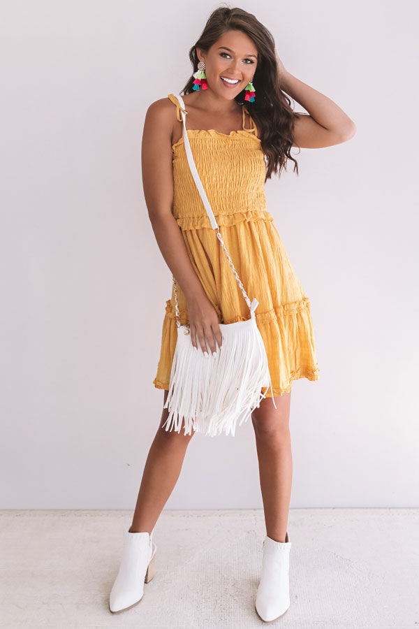 Tikis And Tanlines Smocked Dress In Primrose Yellow