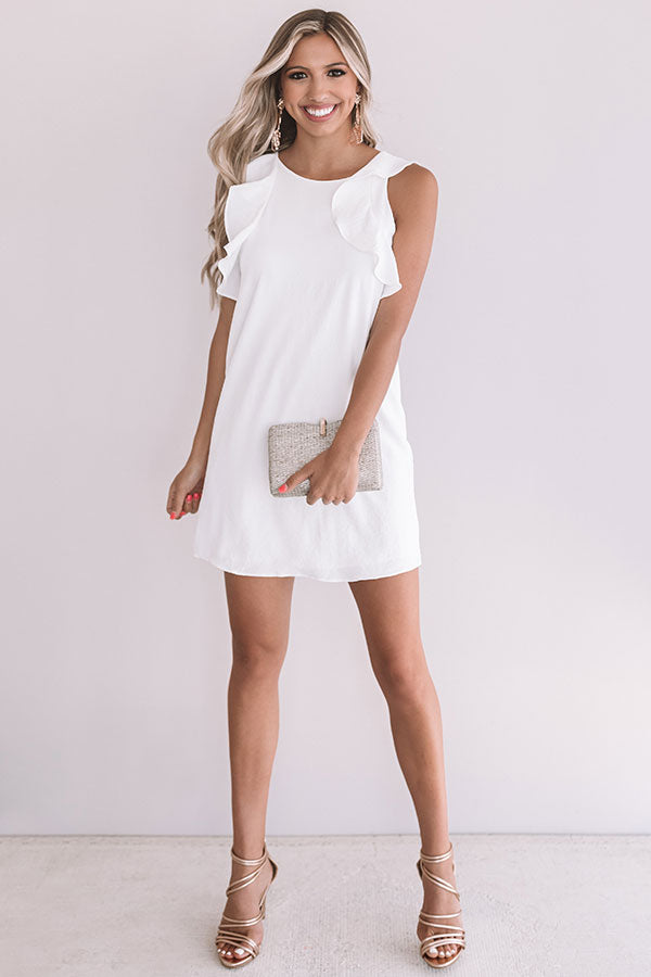 Going Steady Shift Dress In White