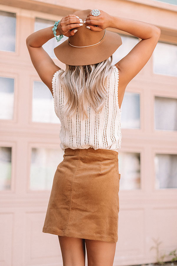 Concert Nights Knit Tank In Cream