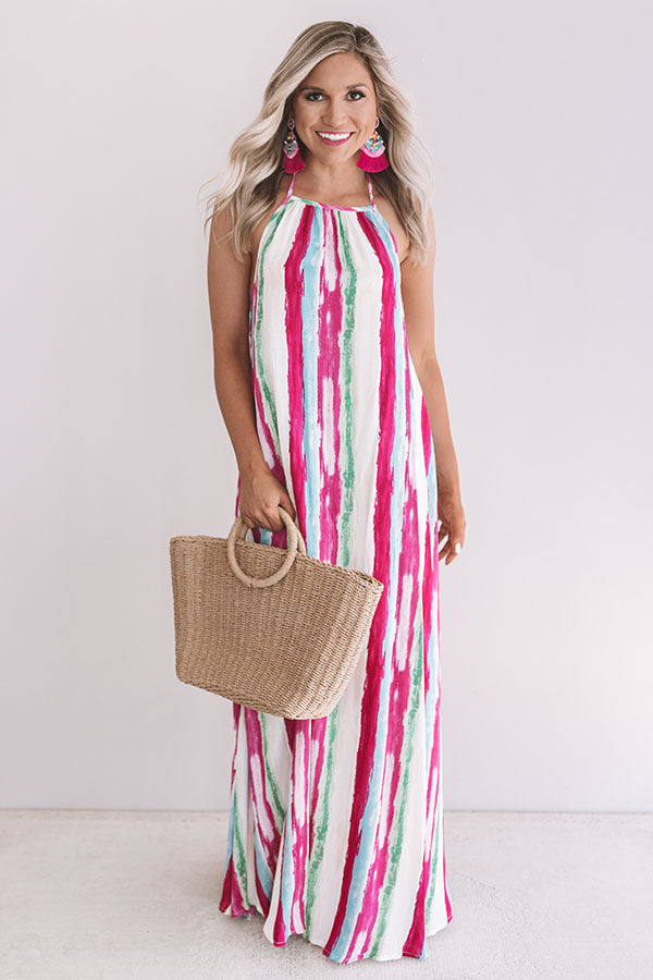 Pinot At The Plaza Halter Maxi