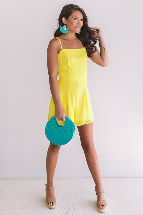 Bon Voyage Babes Romper In Yellow