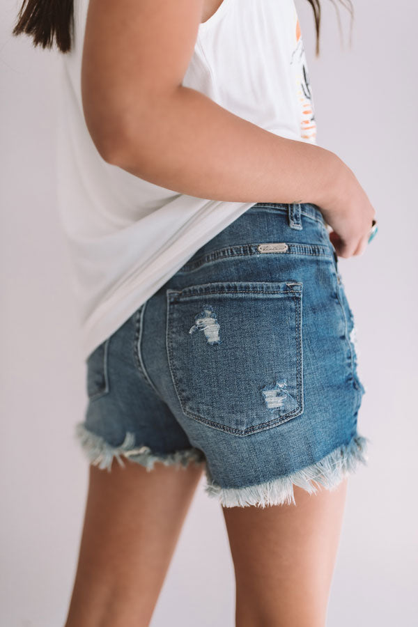 The Ruby High Waist Distressed Shorts