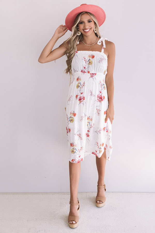Bellinis By The Coast Eyelet Midi