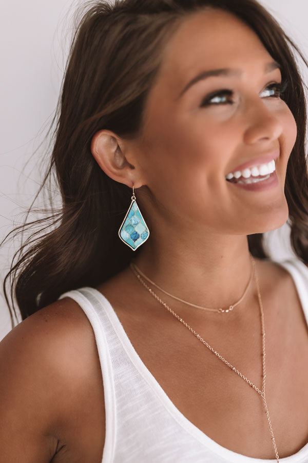 Waves Of Wonderful Earrings In Turquoise