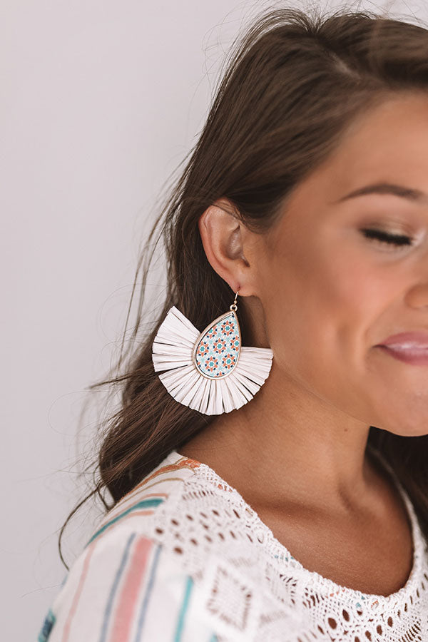 Flight To Florence Fan Earrings In Cream