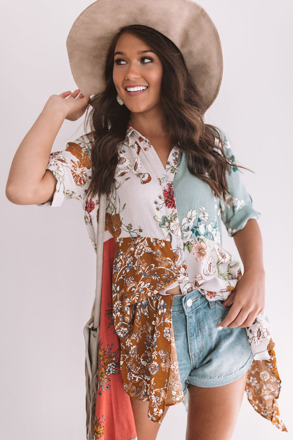 Rose Colored Kisses Floral Babydoll Top