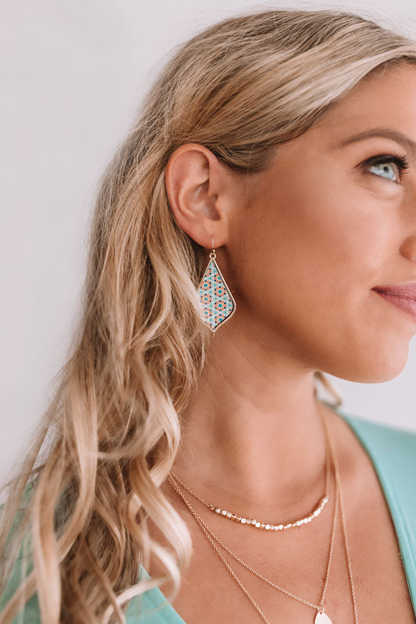 Waves Of Wonderful Earrings In Mint