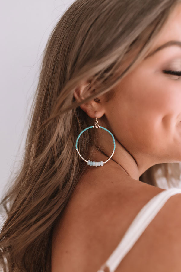 The Latest Scoop Earrings In Ocean Wave